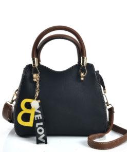 e0f75b6b22fd Contrasting Colors Litchi Grain Dual-Use Handbag With Alphabet Design